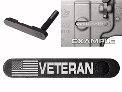 NDZ AR-15 SW 15-22 Black Magazine Catch US Flag Veteran