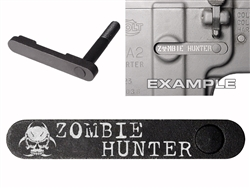 NDZ AR-15 SW 15-22 Black Magazine Catch Zombie Hunter BioSkull