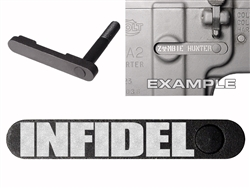NDZ AR-15 SW 15-22 Black Magazine Catch Infidel
