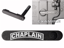 NDZ AR-15 SW 15-22 Black Magazine Catch 055 Banner Chaplain