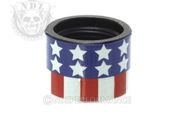 Backup Tactical Red, White, Blue Flag Thread Protector for 1/2 x 28