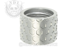 Backup Tactical Silver Honey Comb Thread Protector for 1/2 x 28