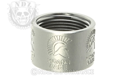 Backup Tactical Silver Molon Labe Thread Protector for .578 x 28