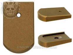 NDZ Magazine Plate for Beretta 92, 96 & clones Cerakote Burnt Bronze