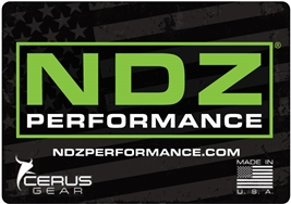 Cerus Gear NDZ Promat with NDZ Performance logo and weathered U.S. Flag