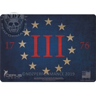 Cerus Gear Pistol Mat 13 Thirteen Percenter Full Color Red White Blue