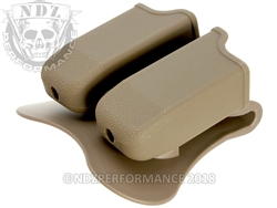 Magazine Holster Pouch for Glock 17 19 22 & Sig Sauer Pro P2022 Magazines FDE