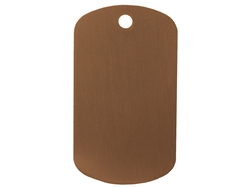 "NDZ Brown Dog Tag Kit With 30"" Chain & Silencer (*LZ)"