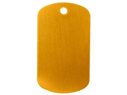 "NDZ Dark Gold Dog Tag Kit With 30"" Chain & Silencer (*LZ)"