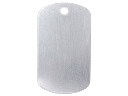 "NDZ Gray Dog Tag Kit With 30"" Chain & Silencer (*LZ)"