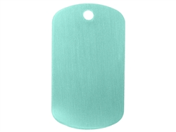"NDZ Light Blue Dog Tag Kit With 30"" Chain & Silencer (*LZ)"