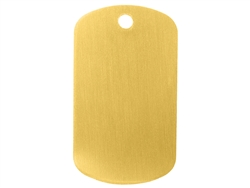 "NDZ Light Gold Dog Tag Kit With 30"" Chain & Silencer (*LZ)"