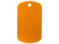 "NDZ Orange Dog Tag Kit With 30"" Chain & Silencer (*LZ)"