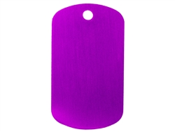 "NDZ Purple Dog Tag Kit With 30"" Chain & Silencer (*LZ)"