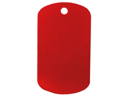 "NDZ Red Dog Tag Kit With 30"" Chain & Silencer (*LZ)"