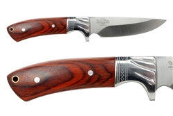"Elkridge 9"" Full Tang Fixed Blade Wood Handle Knife ER148 (*LZ)"