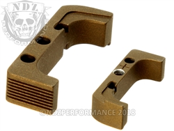 Aftermarket NDZ Plus Mag Release For Glock Gen 4 10MM 45 Burnt Bronze | NDZ Performance