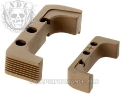 Aftermarket FDE Plus Sized Mag Release For Glock Gen 4 10MM 45 | NDZ Performance