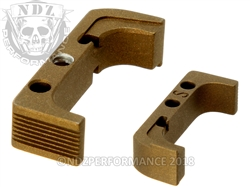 Aftermarket Burnt Bronze Mag Release For Glock Gen 4 10MM 45 | NDZ Performance
