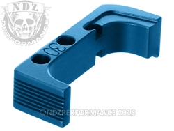 NDZ Blue Standard Magazine Release for Glock Gen 4 10MM .45
