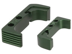 NDZ Green Standard Magazine Release for Glock Gen 4-5 10MM .45