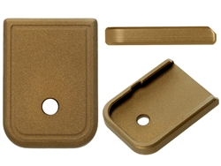 Aftermarket Glock Magazine Base Plate 10MM 45 In Cerakote Burnt Bronze | NDZ Performance