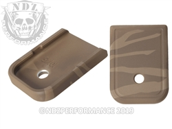 Glock Magazine Plate Brown Tiger Stripe