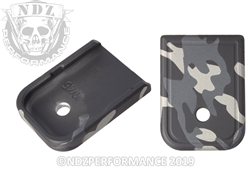 Magazine Plate Glock 10mm 45 Black & Grey Multicam