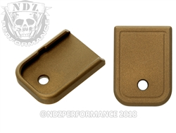 Aftermarket Glock Gen 1-5 Magazine Base Plate 9MM 40 In Cerakote Burnt Bronze | NDZ Performance