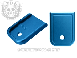 NDZ Blue Magazine Plate for Glock 9MM .40 (*LZ)