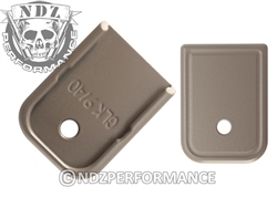 NDZ Gun Kote FDE Magazine Plate for Glock 9MM .40