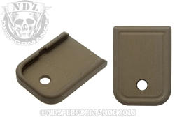 NDZ Glock 9mm & .40 Customizable HC FDE Magazine Plate