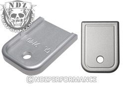NDZ Silver Magazine Plate for Glock 9MM .40 (*LZ)