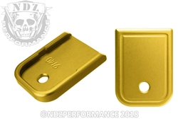 NDZ Gold Magazine Plate for Glock 9MM .40 (*LZ)