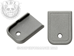 Aftermarket Glock Gen 1-5 Magazine Base Plate 9MM 40 In Cerakote Tungsten | NDZ Performance