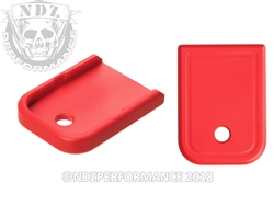 Aftermarket Glock Gen 1-5 Magazine Base Plate 9MM 40 In Cerakote USMC Red | NDZ Performance