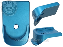 NDZ Finger Extended Magazine Plate for Glock 10MM .45 Blue (*LZ)