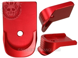 NDZ Red Finger Extended Magazine Plate for Glock 10MM .45 (*LZ)