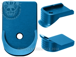 NDZ Blue Extended Grip Magazine Base Plate For Glock Gen 1-5 9MM 357 40
