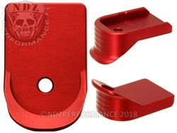 NDZ Red Extended Grip Magazine Base Plate For Glock Gen 1-5 9MM 357 40
