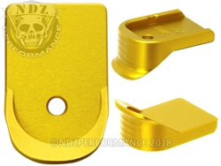 NDZ Gold Extended Grip Magazine Base Plate For Glock Gen 1-5 9MM 357 40