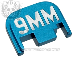 Blue Glock Slide Plate Gen 1-4 9Mm 3D