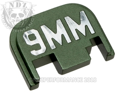 Green Glock Slide Plate Gen 1-4 9Mm 3D