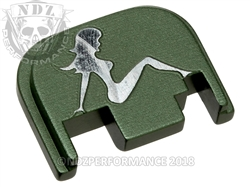 Green Glock Slide Plate Gen 1-4 Trucker Girl 3D