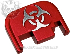 Red Glock Slide Plate Gen 1-4 Bio Hazard 3D