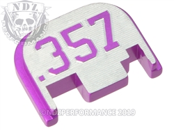 Purple  Inv Glock Slide Plate Gen 1-4 357