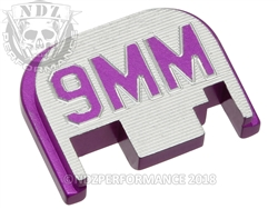 Purple Glock Slide Plate Gen 1-4 9Mm 3D Inv
