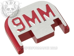 Permance Red Glock Slide Plate Gen 1-4 9Mm 3D Inv