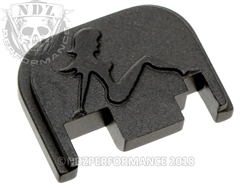 Black Glock Slide Plate Gen 1-4 Trucker Girl  Sub