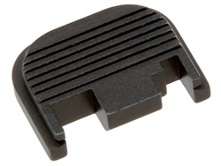 Black Glock Slide Cover Plate Gen 1-4 Ribbed  Sub